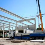 Bau einer Industriehalle
