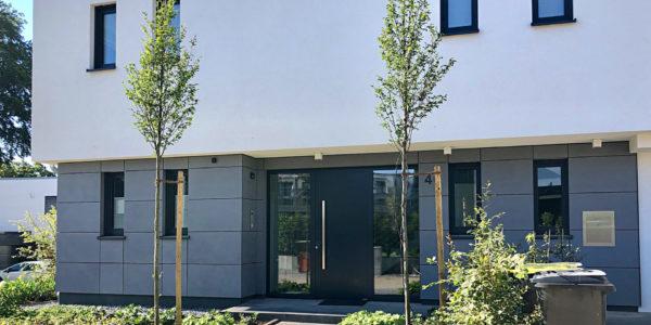 Fassadenverkleidung an Wohnhaus