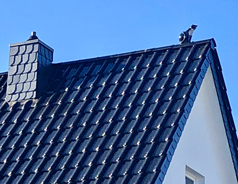 Figur auf Dachfirst