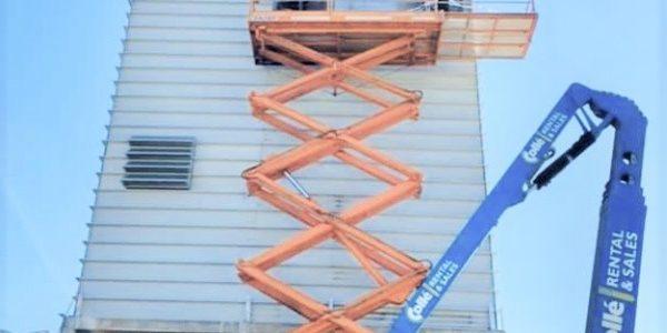 Sprühturm-Verkleidung / Bauphase